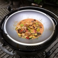 Rotes Thai Curry aus dem Weber Wok